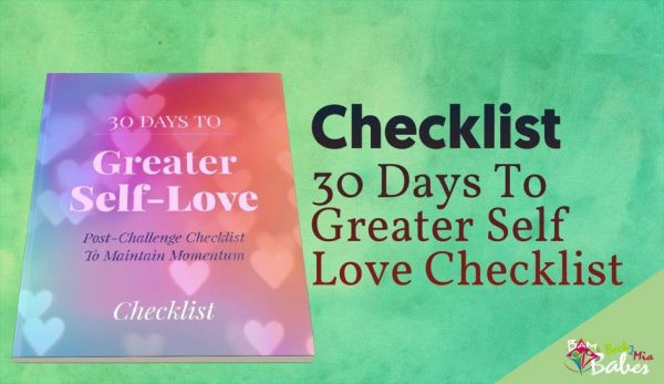 30 Days to Greater Self-Love, Checklist