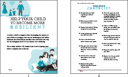 Help Your Child To Become More Resilient, Checklist